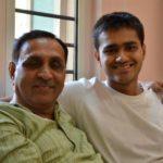 Vijay Rupani With His Son Rushabh
