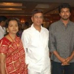 Vijay with his parents