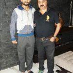 Virat Kohli with his coach Raj Kumar Sharma