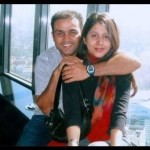 Virender Sehwag with his wife Aarti