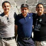 Vivek Mushran with his brothers Sunil Mushran (Center) and Pradeep Mushran (Right)