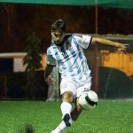 Vivian Dsena playing football
