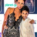 Yellow Mehra with her son Kaii