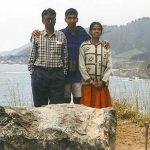 Young Sundar Pichai with his parents