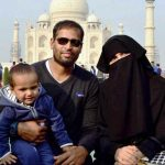 Yusuf Pathan with his wife and son Ayaan