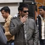 Ajay Devgan Smoking at the sets of London Dreams