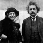 Einstein with his second wife Elsa