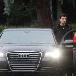 Orlando Bloom with Audi A8