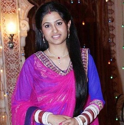 Shefali Sharma on sets of Bani Ishq da Kalma