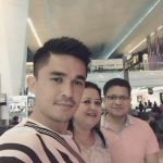 Sunil Chhetri with his parents in Singapore