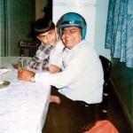 Virat Kohli childhood photo with his father