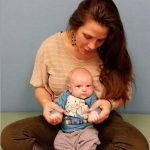 wrestler Mickie James with her son
