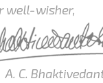 A. C. Bhaktivedanta Swami Prabhupada's Signature