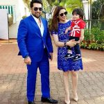 Aamna Sharif with her husband Amit Kapoor and son Arain Kapoor