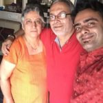 Aastad Kale with his parents