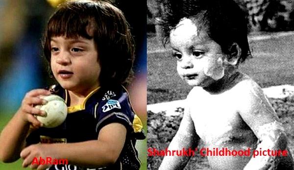AbRam Khan and Shah Rukh Khan