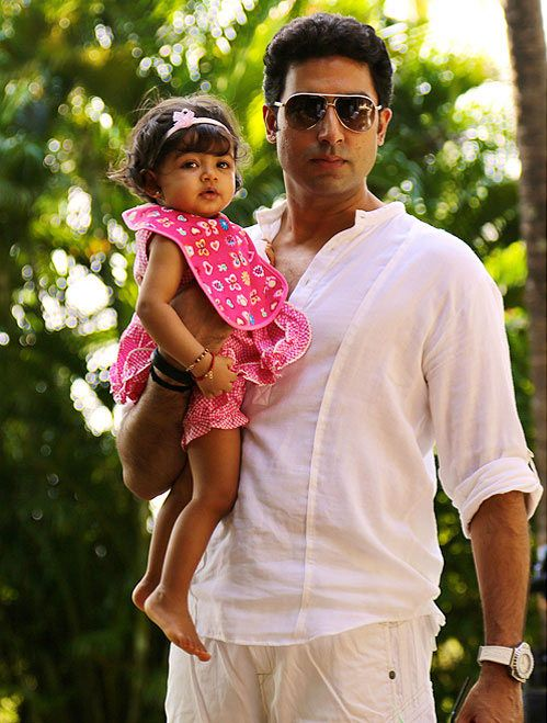 Abhishek Bachchan with his daughter Aaradhya Bachchan