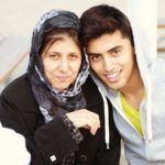 Ahmed Masih with mother