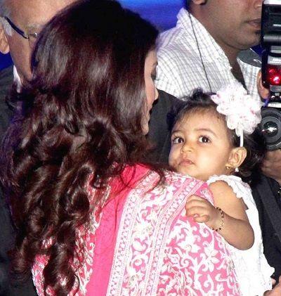 Aishwarya Rai with cute Aaradhya