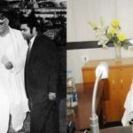 Aishwarya Rai grandfather Daroga Prasad Rai (left) in 1970, and father Chandrika Rai (right)