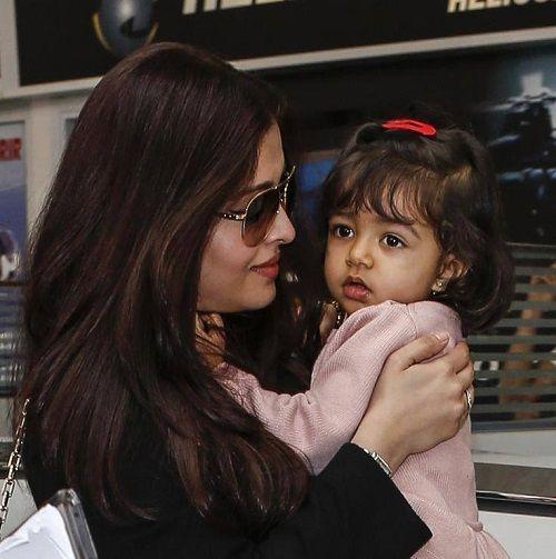 Aishwarya with baby Aaradhya