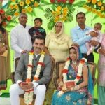 Ajay Kumar Nain with his parents, brother, sister-in-law, sister and wife