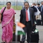 Ajit Doval with his wife