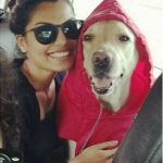 Akansha Thakur with her dog