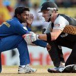 Akila Dananjaya And New Zealand Player Rob Nicol