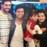 Akshat Rajan with the Bachchans