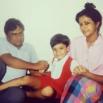 Alekh Sangal with his parents- Childhood Picture