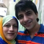 Ali Merchant with his mother