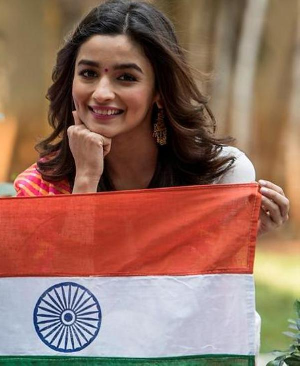 Alia Bhatt With Indian Tricolour