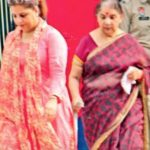 Alka Kaushal with her mother