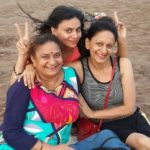 Alka Mogha with her mother and sister