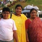 Ambika Ranjankar with her son and mother