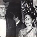 Amrish Puri With His Wife