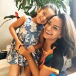 Anaitha Nair With Her Daughter