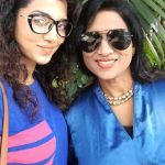 Ananya Sengupta with her mother