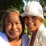 Angela Bassett with her mother