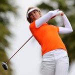 Angie Watson playing golf