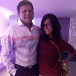 Anisha Ambrose father Ashok Ambrose and sister Ankita Ambrose