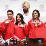 Anjum Moudgil With Indian Shooting Team