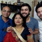 Ankit Raizada with his family