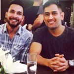 Ankit Sharma With MS Dhoni