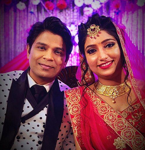 Ankit Tiwari with Pallavi Shukla