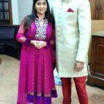 Ankitha with her husband Vishal Jagtap