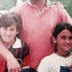 Antonella Roccuzzo and Messi in childhood