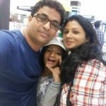 Anup Upadhyay with his wife and daughter
