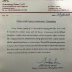 Armstrong Pame letter for Students